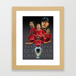 Liverpool Champions of Europe Framed Art Print