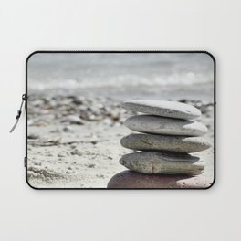 Balancing Stones On The Beach Laptop Sleeve