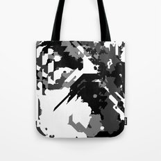 Black Gray and White Abstract Tote Bag