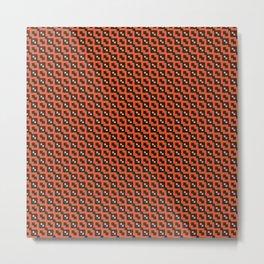 Orange black  pattern Metal Print