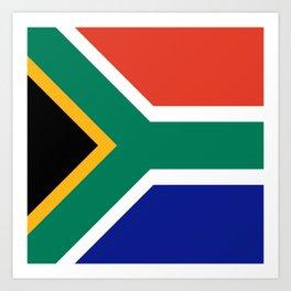 flag south africa, African,Afrikaans,Mandela,apartheid, Johannesburg,Soweto,Pretoria,Durban,Tembisa Art Print