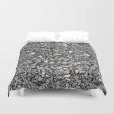 pebbles on the beach Duvet Cover