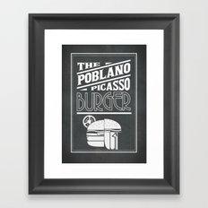 The Poblano Picasso Burger Framed Art Print