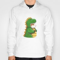 guinea pig Hoodies featuring Guinea Pig in a Dinosaur Costume - Peegosaurus Rex by When Guinea Pigs Fly