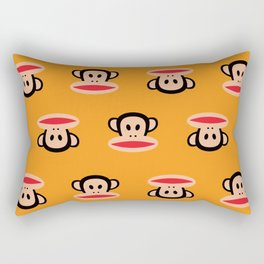 Julius Monkey Pattern by Paul Frank - Orange Rectangular Pillow