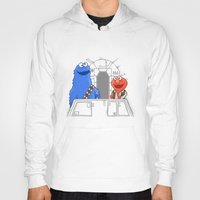 elmo Hoodies featuring Han Elmo and the Wookie Monster by NathanJoyce