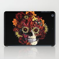 ohm iPad Cases featuring Full circle...Floral ohm skull by Kristy Patterson Design