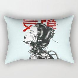 Vaporwave Japanese Cyberpunk Urban Rectangular Pillow