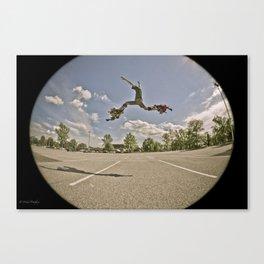 jumping stilts! Canvas Print
