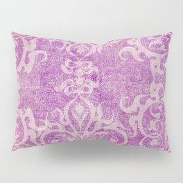 Antique rustic purple damask fabric Pillow Sham