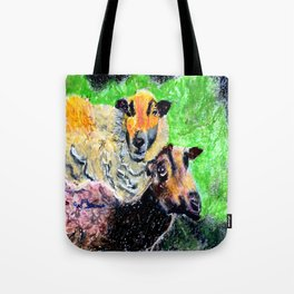 Two Ewes at Sunset Tote Bag