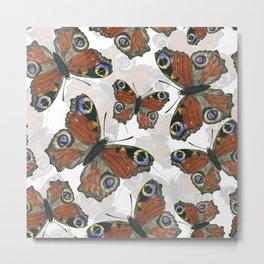 Peacock butterfly pattern Metal Print