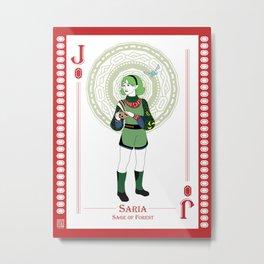 Saria - Hylian Court Legend of Zelda Metal Print