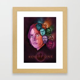 Rogue One Movie Poster Framed Art Print