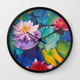 Water flowers Wall Clock