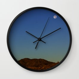 Full Moon Over The Mountains Wall Clock