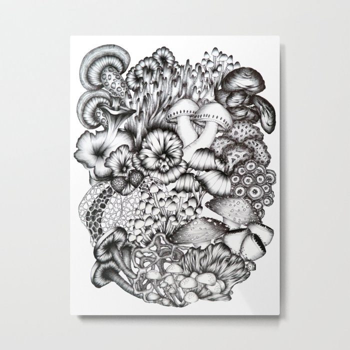 A Medley of Mushrooms Metal Print