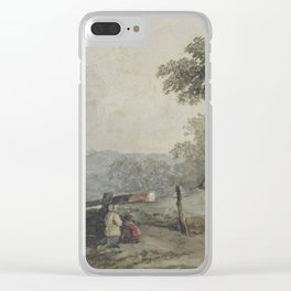 Lockgates and cottage, by Edward Hassell. Clear iPhone Case