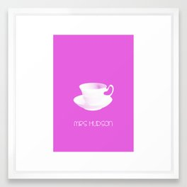 Mrs Hudson Minimalist Poster Framed Art Print