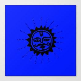 The Sun God : Warli art Canvas Print