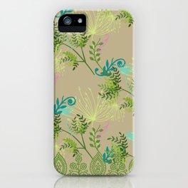 Botanical with Henna Border iPhone Case