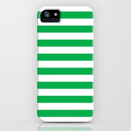 Horizontal Green Stripes iPhone Case