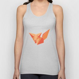 """Collection """"Origami"""" impression """"Fox Paper"""" Unisex Tank Top"""