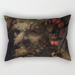 Four Seasons in One Head - Giuseppe Arcimboldo, 1590 Rectangular Pillow