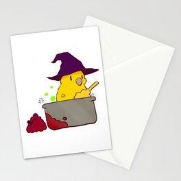 Yellow Food bowl Cauldron Stationery Cards