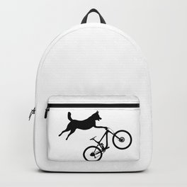 funny MTB mountain bike cycling dog lover gift Backpack