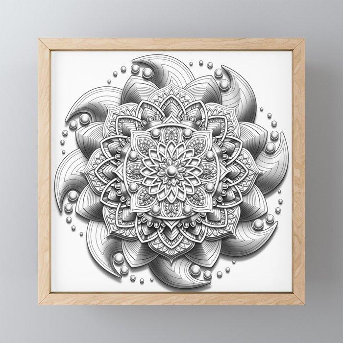 Evolve Mandala Framed Mini Art Print