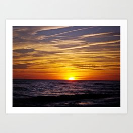 Sunset at Oak Island Art Print