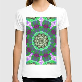 Overdose Of Green Neon Kaleidoscope T-shirt