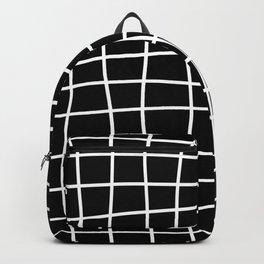 Hand Drawn Grid (white/black) Backpack