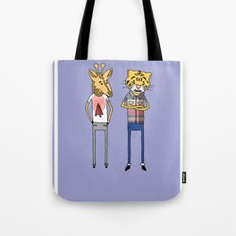 Giraffe and Tiger Tote Bag