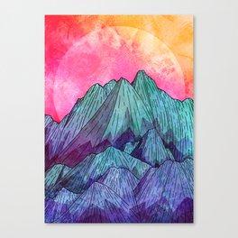 Sunset Sky Mounts Canvas Print