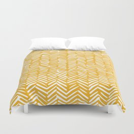 Boho Mudcloth Pattern, Summer Yellow Duvet Cover