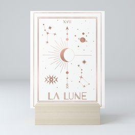 La Lune or The Moon White Edition Mini Art Print