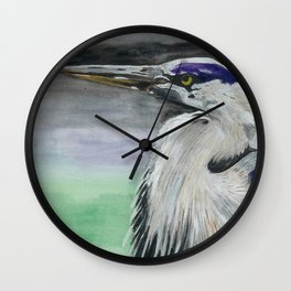 Blue Herring Wall Clock