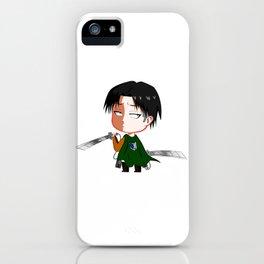 "Chibi Captain Levi (Rivaille) from ""Attack On Titan""/""Shingeki No Kyojin"" iPhone Case"