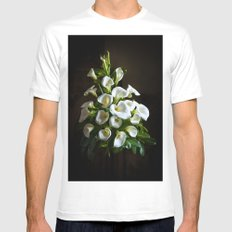 White Lilies Mens Fitted Tee White SMALL