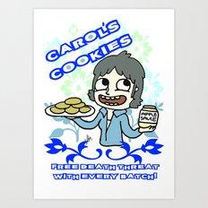 carol's cookies Art Print