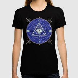 Evil Eye Mandala – Navy T-shirt