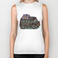 earthbound Biker Tanks featuring Runaway 5 Van - Mother 2 / Earthbound by Studio Momo╰༼ ಠ益ಠ ༽