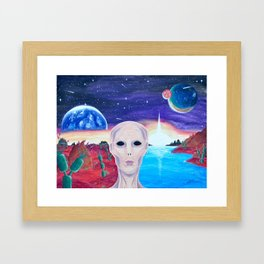 Life On Another Planet Framed Art Print