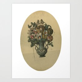 Crooked Bouquet Art Print