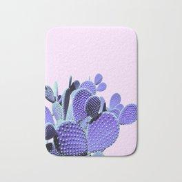 Prickly Cactus - Purple on Pink #cactuslove #tropicalart Bath Mat