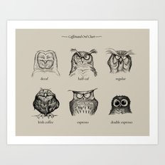 Caffeinated Owls Art Print