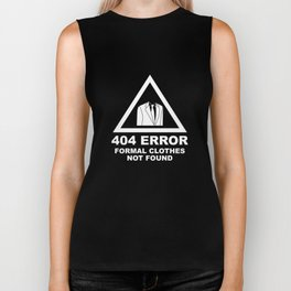 404 Error Formal Clothes Not Found Biker Tank