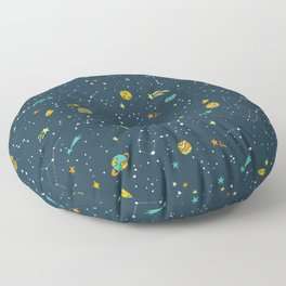Outta this World Space Adventure Floor Pillow